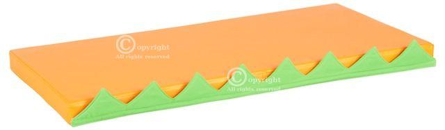 Čiužinių rinkinys manipuliacinei sienelei, oranžinis