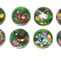 Guminiai kamuoliukai su drugeliais (išpardavimas)