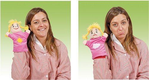 Dviveidės lėlės – pažink emocijas
