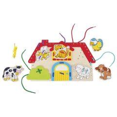 Varstymo žaidimas – namelis su gyvūnais