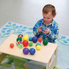 Įvairių sensorinių kamuoliukų rinkinys