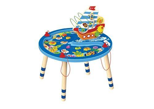 Žaidimų stalelis su manipuliacijomis, su magnetinėmis dekoracijomis ir kitos veiklos