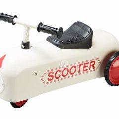 Automobilis-paspirtukas Scooter– baltas