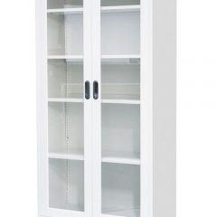Balta dviejų durų spinta