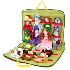 Krepšelis su lėlėmis rankelių teatrui