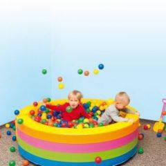 Apvalus kamuoliukų baseinas su 1000 kamuoliukų