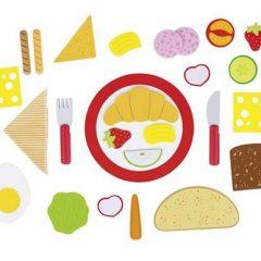 IŠPARDUOTA-Medinis pusryčių rinkinys su meniu kortele