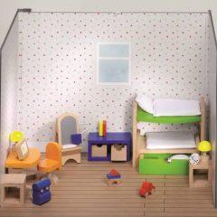 Vaikų kambario baldai lėlių nameliui