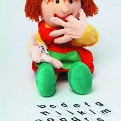 Logopedinė lėlė raidelėms mokytis