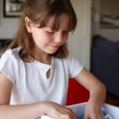 Smėlio ar buberio dėžė žaidimams ant stalo