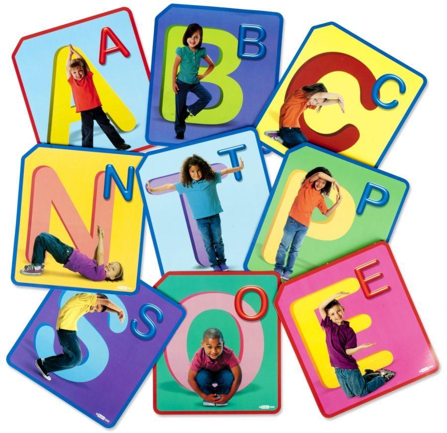 Abėcėlės kortelės Twister