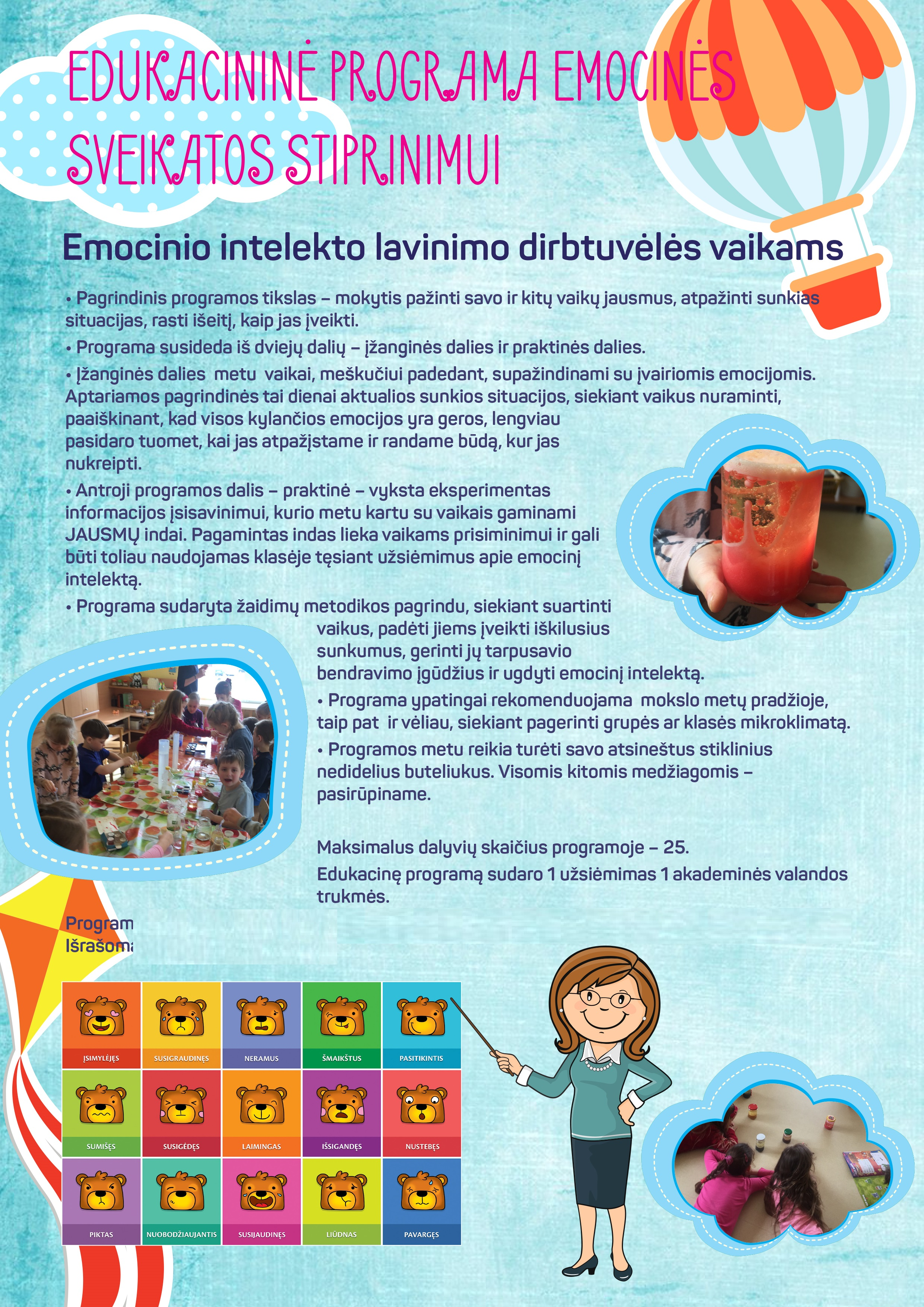 Edukacija vaikų emocinės sveikatos stiprinimui