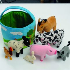 Krepšelis su gyvūnais