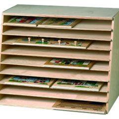 Dėlionių laikymo dėžė
