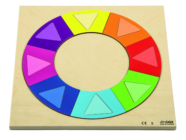 """Dėlionė """"Pažink spalvą ir formą – vaivorykštės ratas"""""""