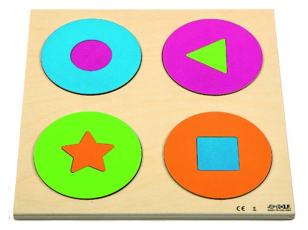 """Dėlionė """"Pažink spalvą ir formą – apskritimai ir formos"""""""