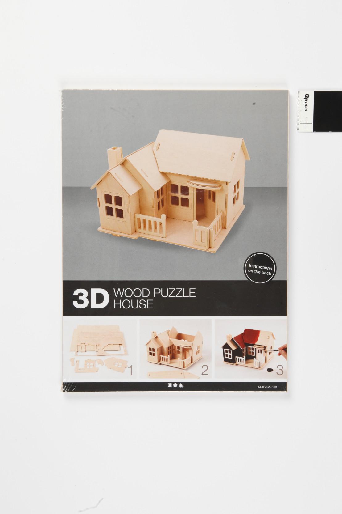"""3D medinis konstravimo rinkinys """"Namas su terasa"""""""