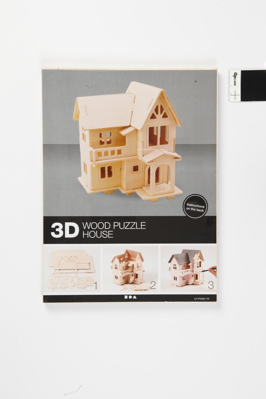 """3D medinis konstravimo rinkinys """"Namas su balkonu"""""""