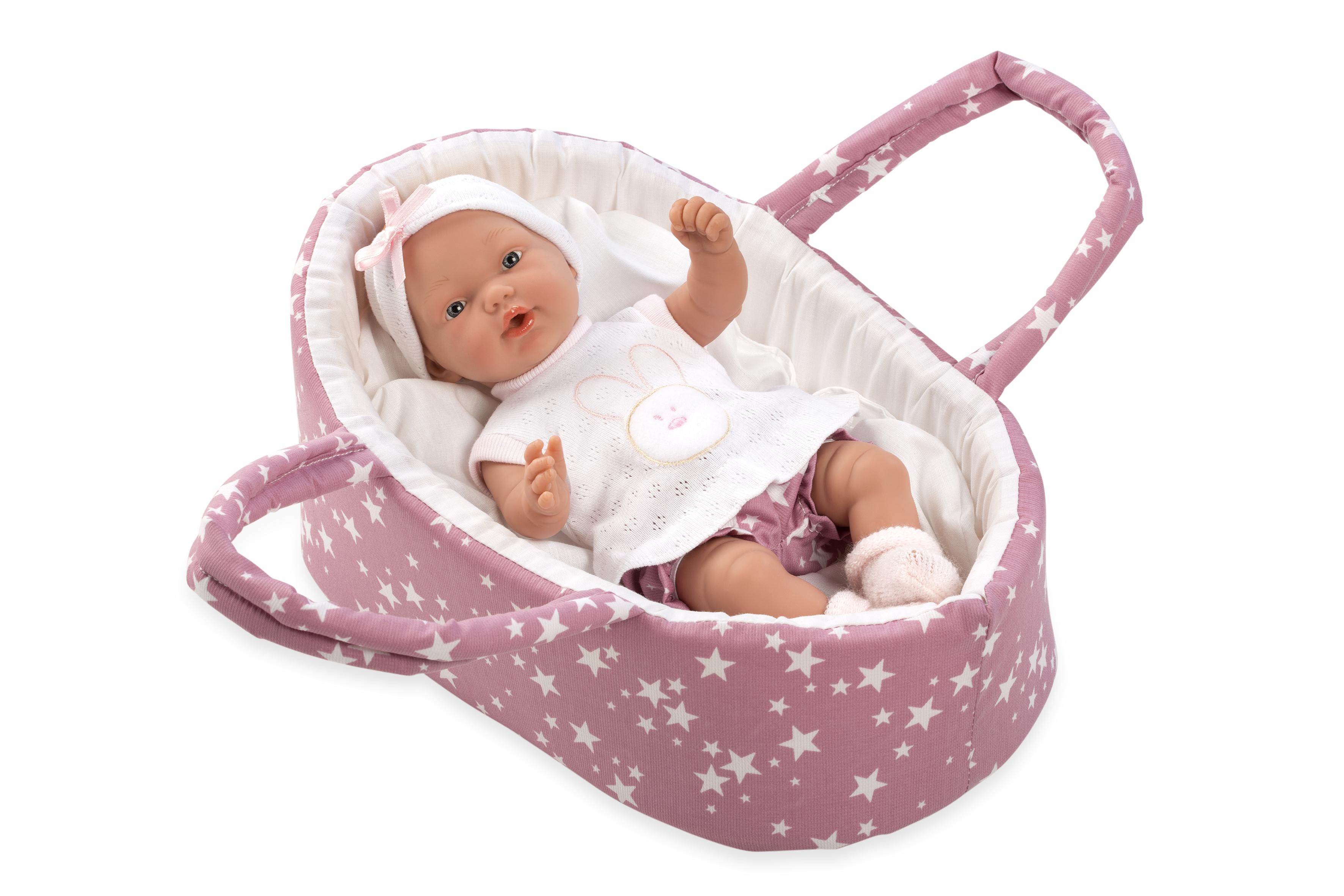 Arias kūdikėlis su nešykle, rožinė