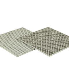LEGO lentelės -Padukai/pilka spalva, 4 vnt.