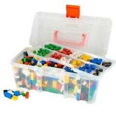 Q-Bricks kaladėlių rinkinys – Maxi bazinės spalvos, 750 vnt.