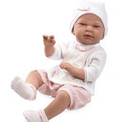 IŠPARDUOTA-Kūdikėlis su trumpomis rožinėmis kelnaitėmis, 52 cm
