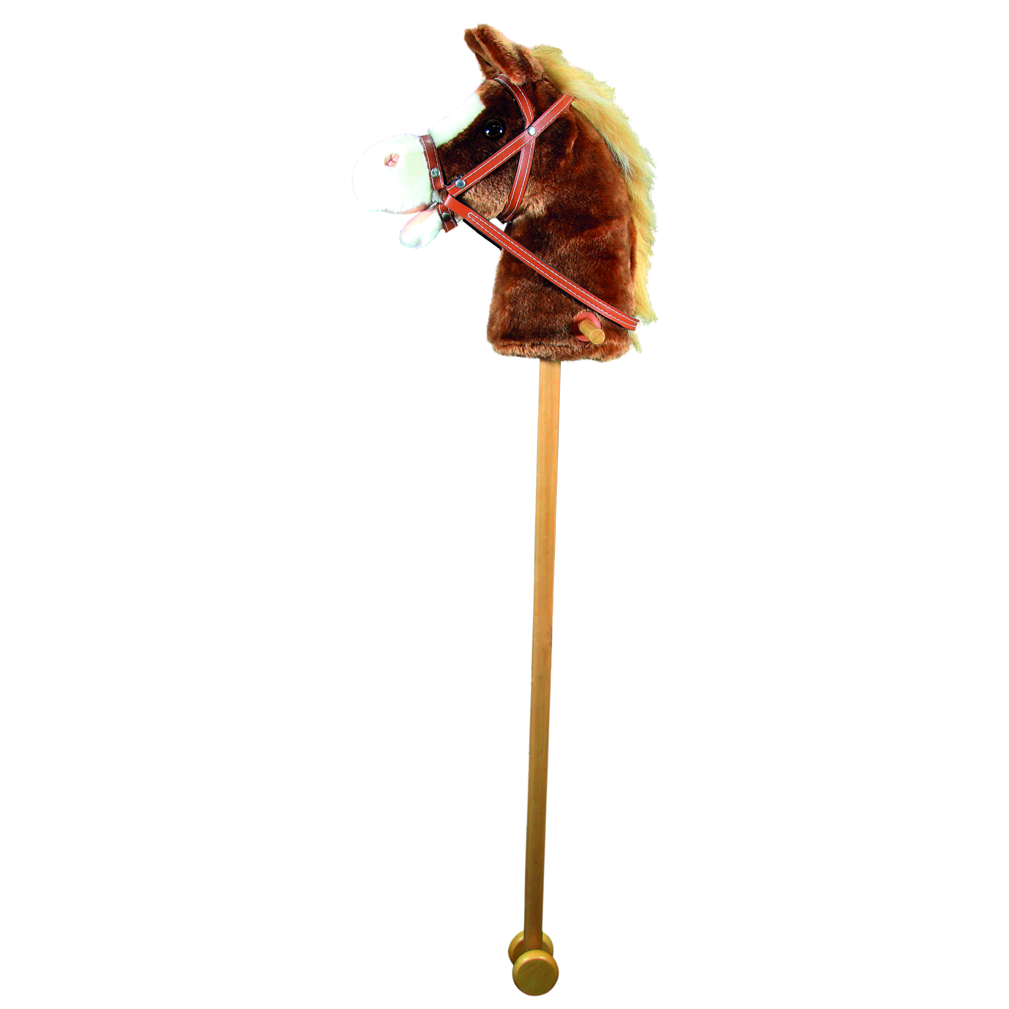Arkliuko galva su lazda ir garsu, ruda