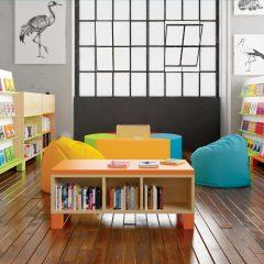 """Pastatoma knygų lentyna oranžinės spalvos, linija """"Gaivumas"""""""