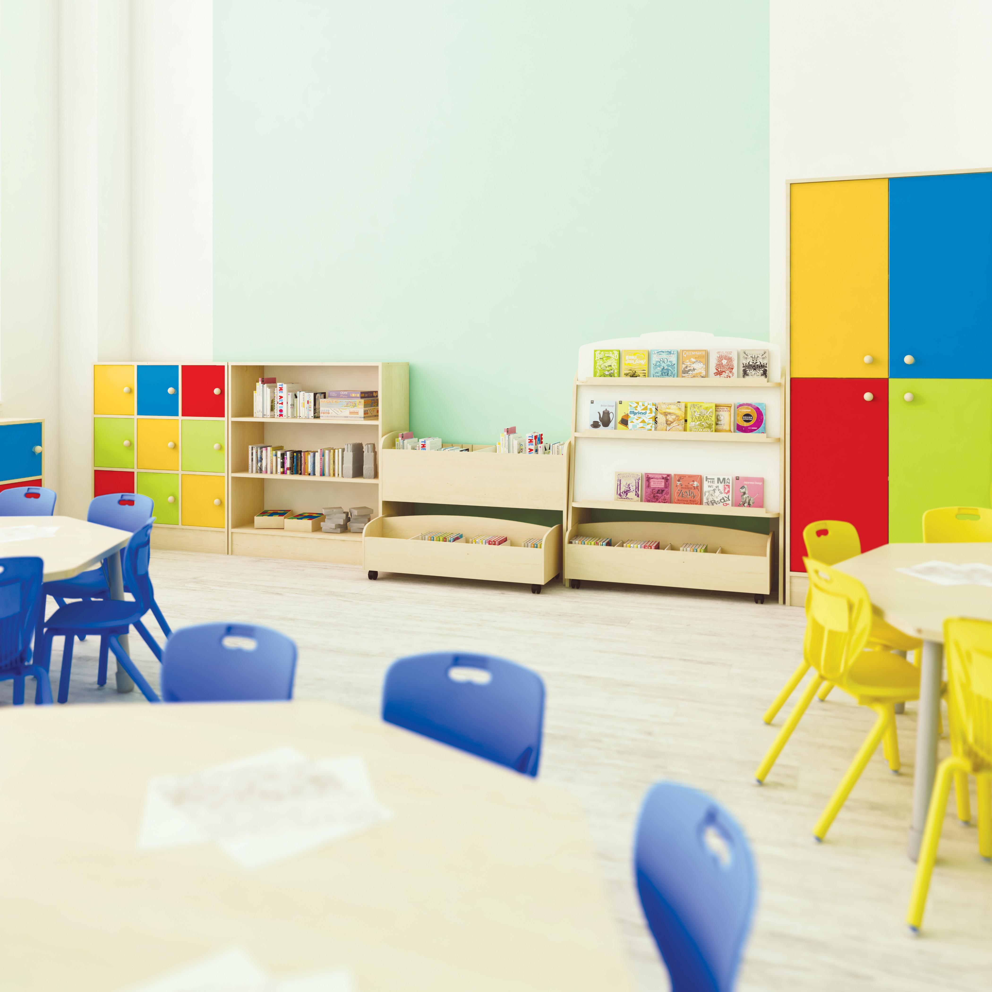 Dvipusis knygų stovas beržo spalvos