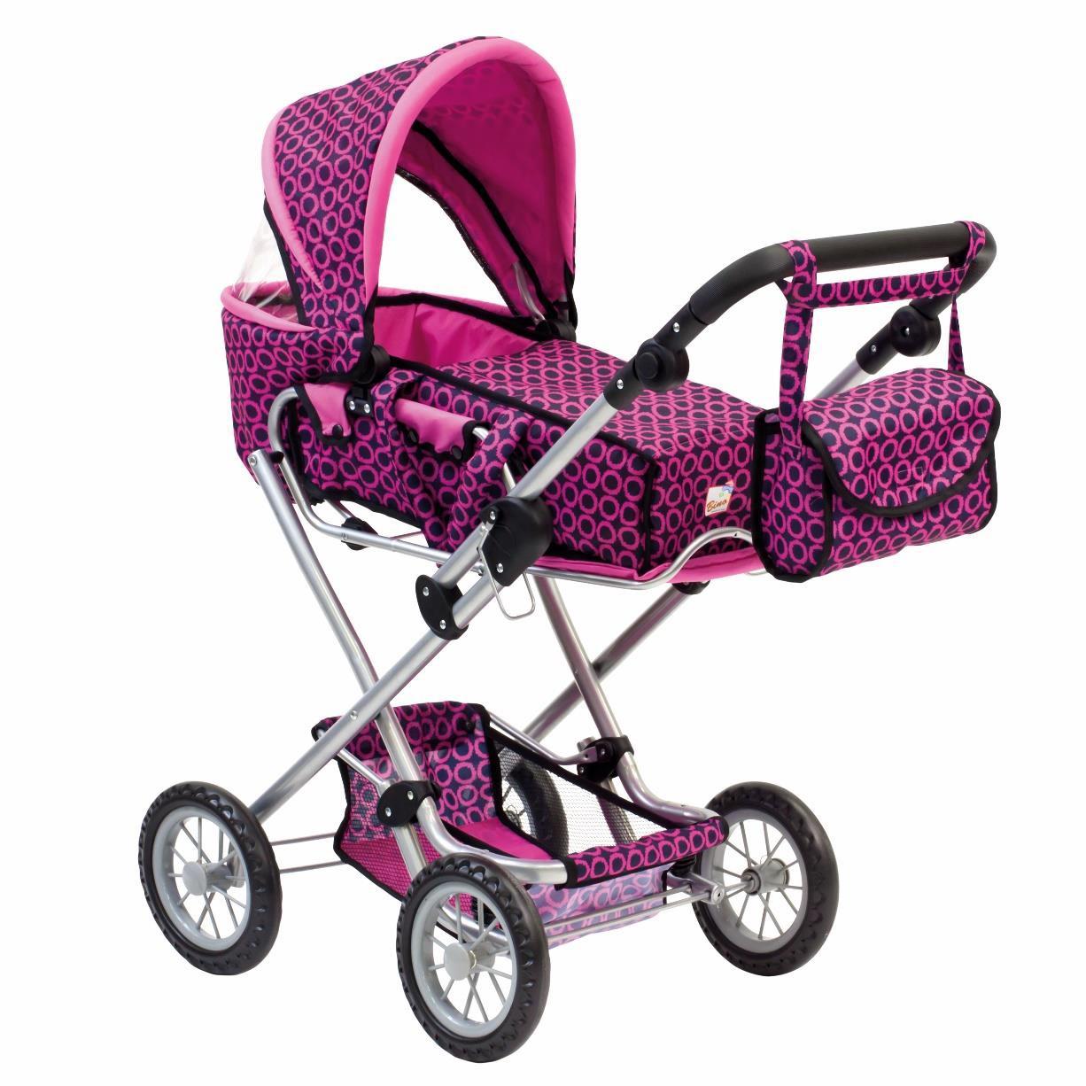 Vežimėlis lėlei su nešiojamu lopšeliu