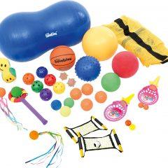 Įvairių kamuoliukų rinkinys su maišu