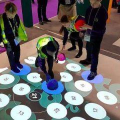 Interaktyvios grindys  su sensoriais